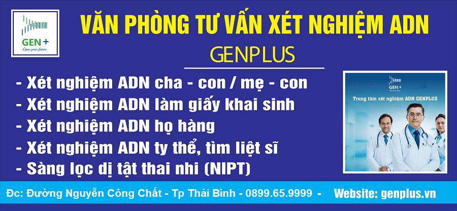 Xét nghiệm ADN – NIPT Genplus tại Thái Bình